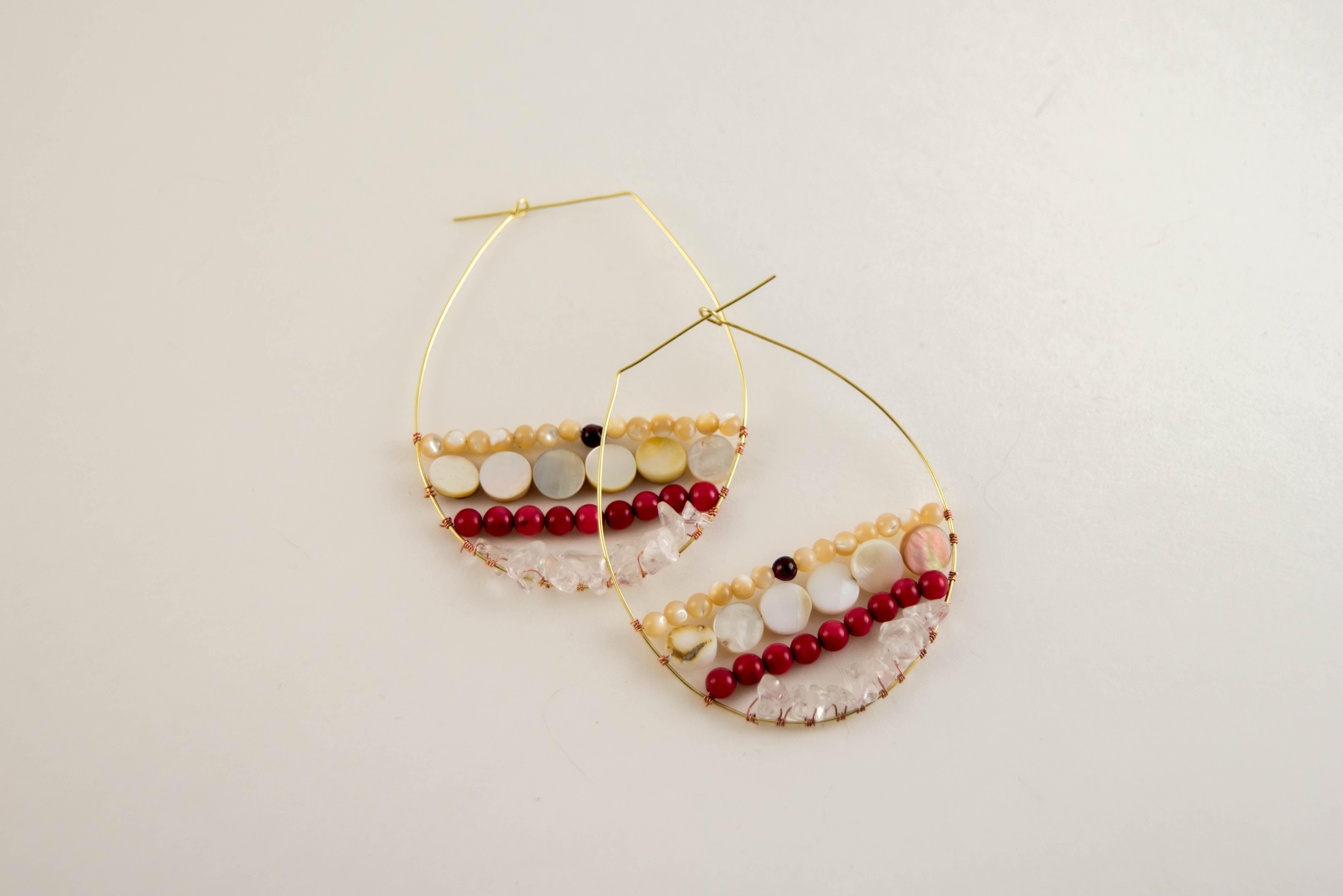 diy beaded hoop earring