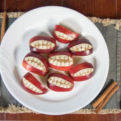 spooky paleo apple bites recipe