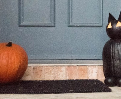 Chalk Paint Cat Pumpkin DIY