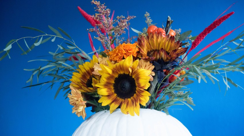 diy thanskgiving pumpkin centerpiece