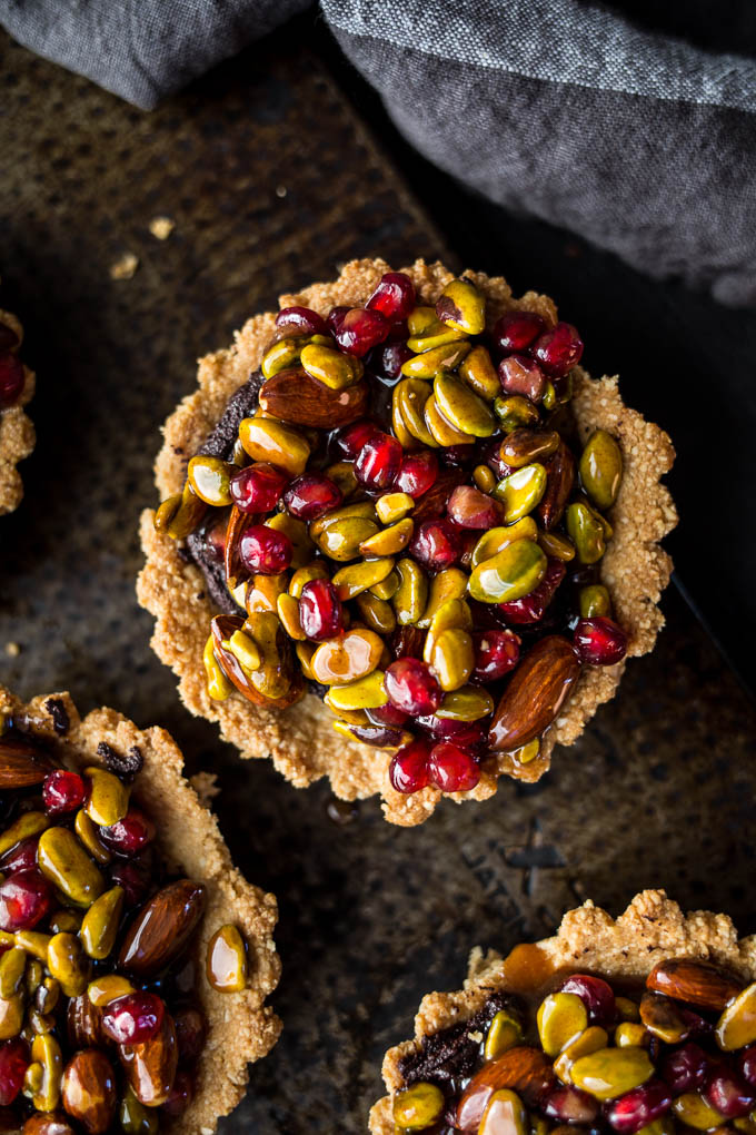 pomegranate pistachio tarts