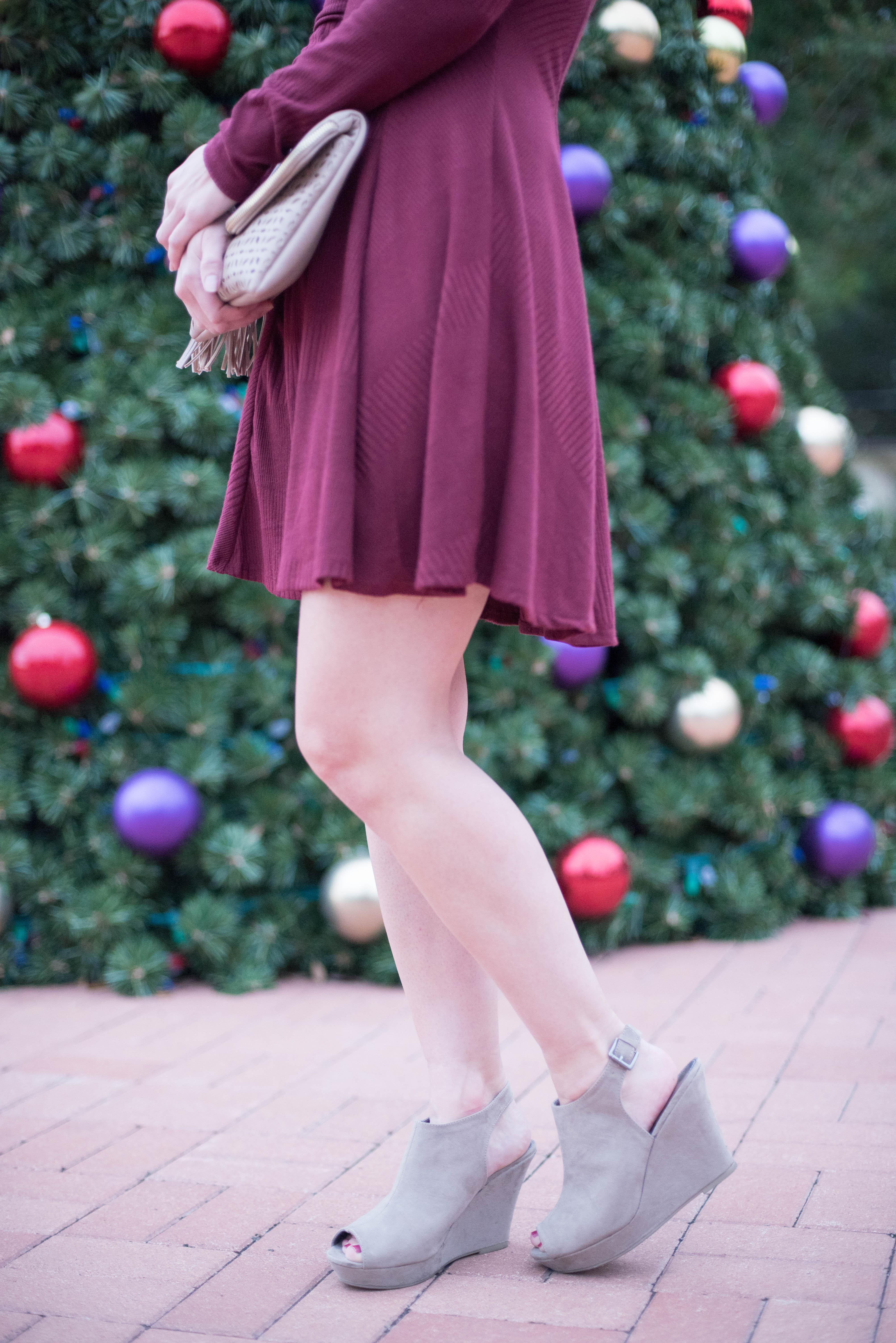 burgundy dress holiday