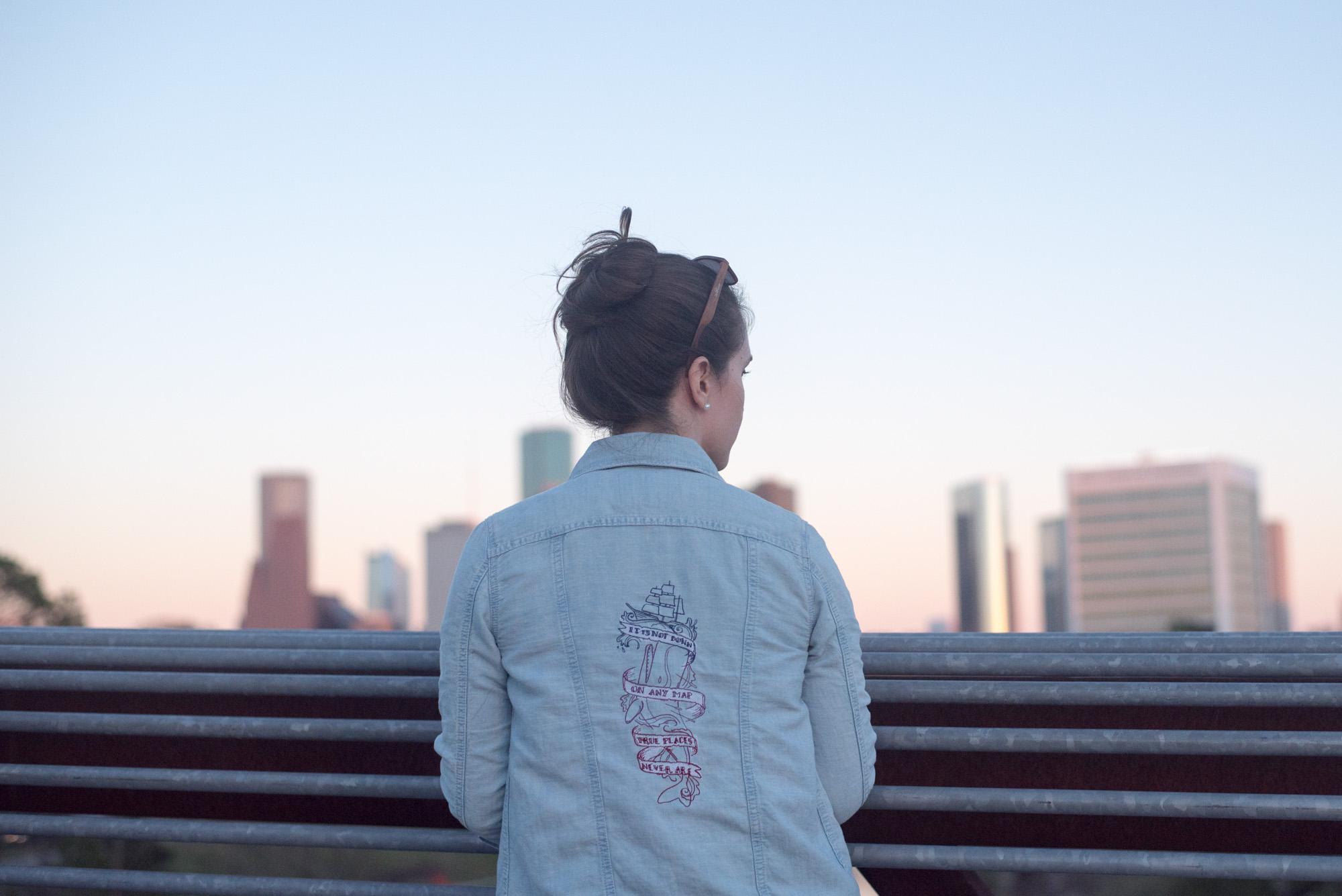 make embroidered jacket