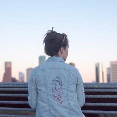 diy embroidered jean jacket