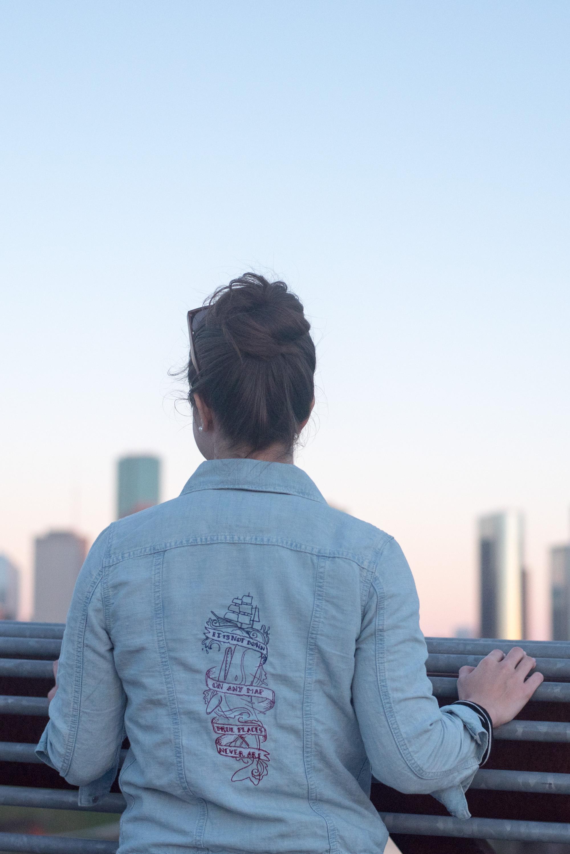 diy embroidery jean jacket