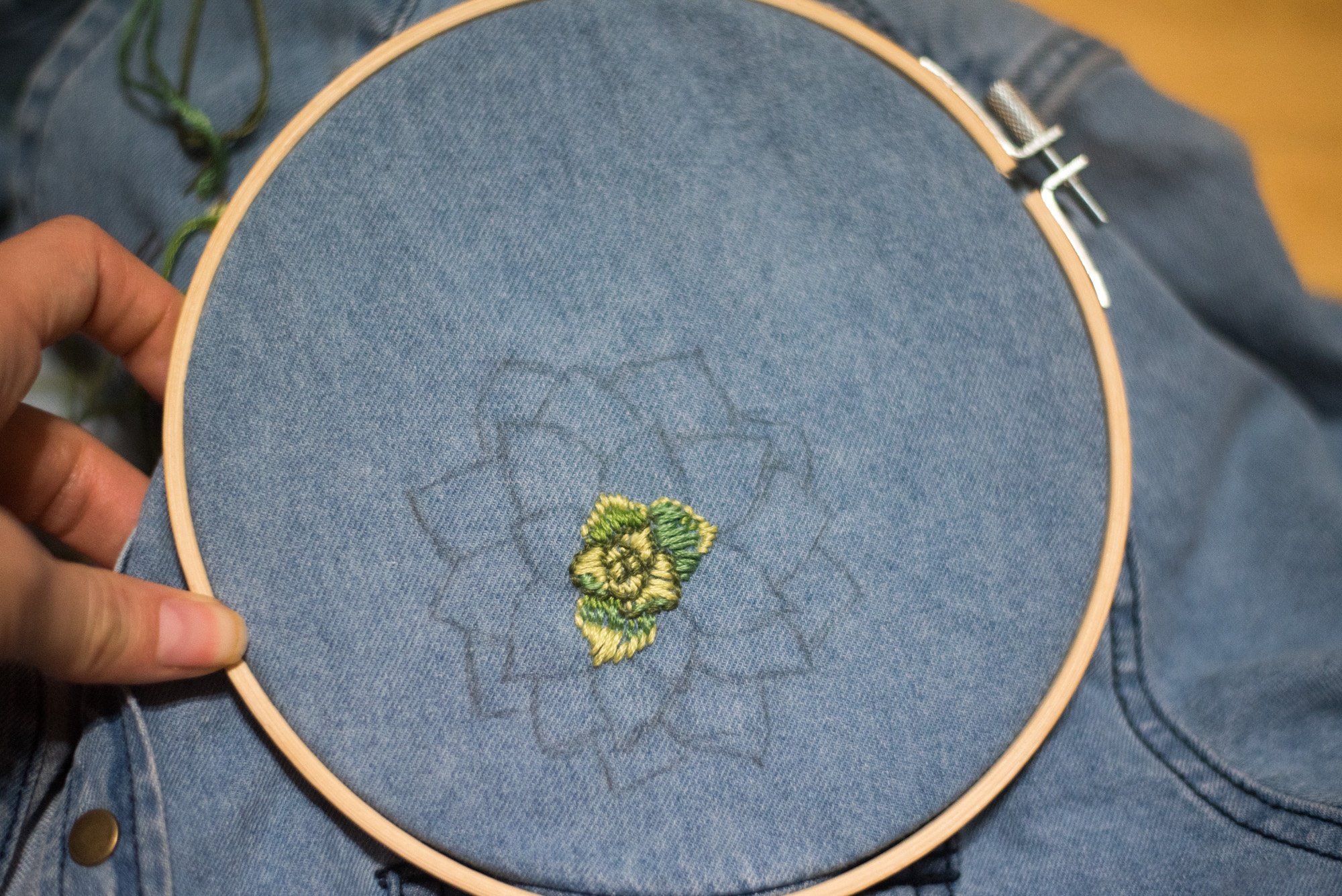 diy succulent embroidery