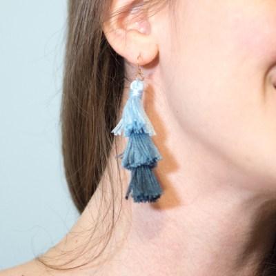 DIY Ombre Stacked Tassel Earrings