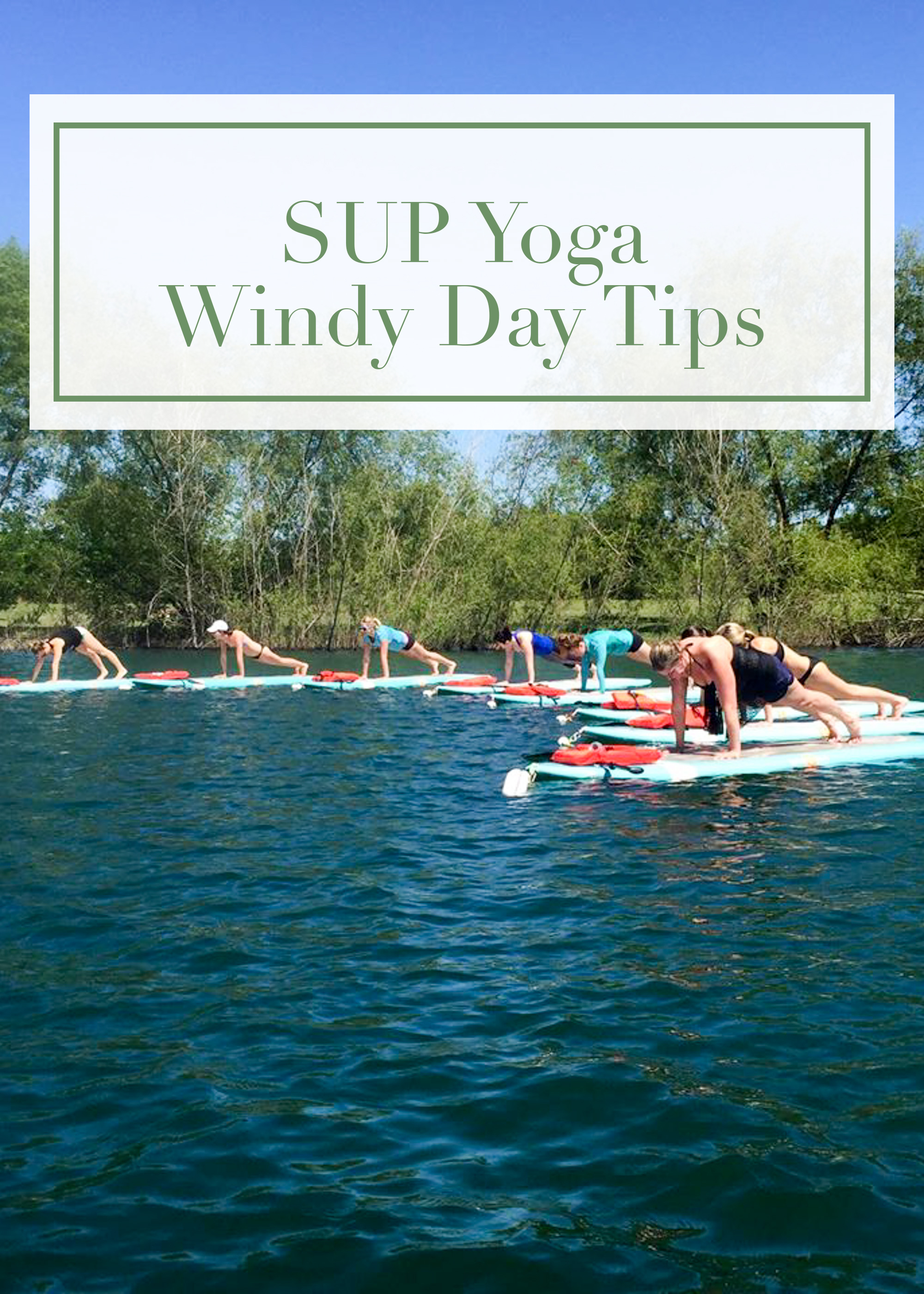 windy sup yoga