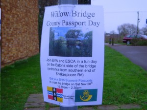 Bedfordshire Day poster in Eaton Socon
