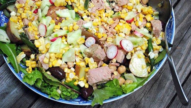Salade Nicoise, a family favorite.