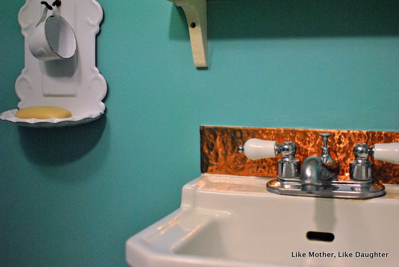 Nice A copper backsplash for a little lavatory Like Mother Like Daughter