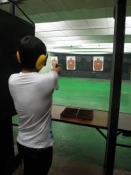 My turn at the firing range