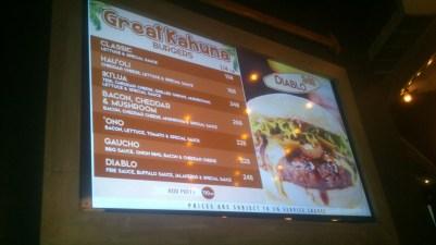 The inspiring electronic menu.