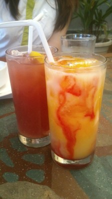 Four Seasons, Php 110.00; Cranberry Juice, Php 90.00