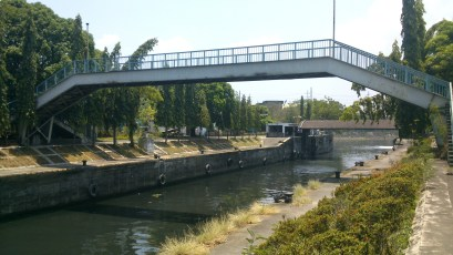 One of the few bridges in the area