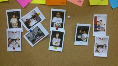 Close-ups of the Polaroids.