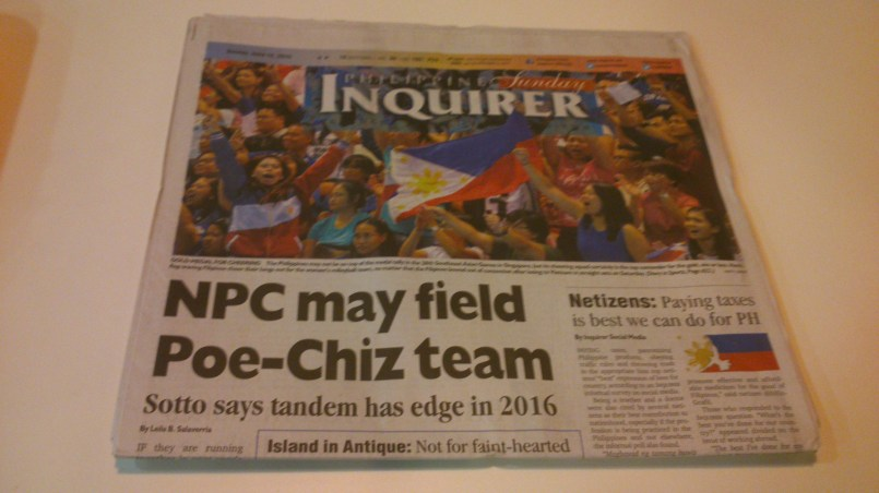 The morning paper.