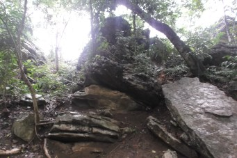 The secrets of the rocks revealed because of the rains and erosion