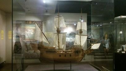 Model of sailing vessel