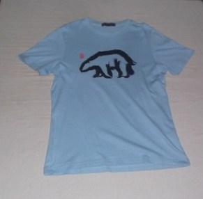 Light Blue Shirt with Polar Bear Detail, Giordano