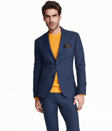 Dark Blue Blazer Slim Fit (H&M)