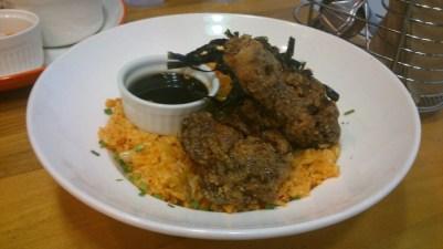 Tebasaki Fried Chicken with Kimchi Rice, Php 275.00