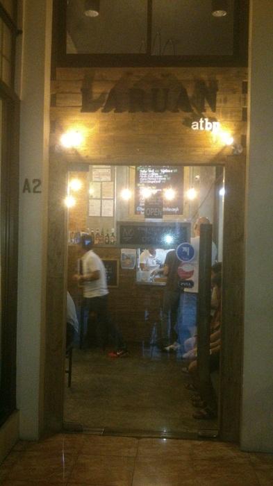 The door to Laruan Atbp. Café