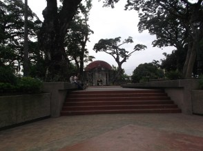 The walkway straight to the chapel
