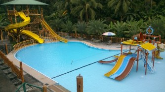 Pool with slides