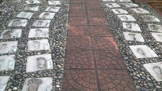 Footprints in the stones