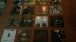 Album posters on the wall