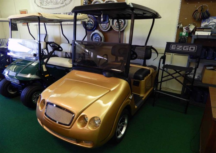 GOLD BENTLEY GOLF CART