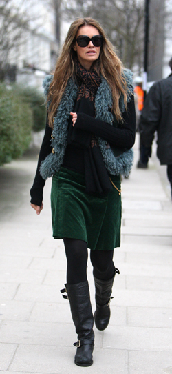 Celebrities after taking their children to school, London, Britain  - 27 Jan 2010