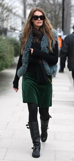Celebrities after taking their children to school, London, Britain  - 27 Jan 2010