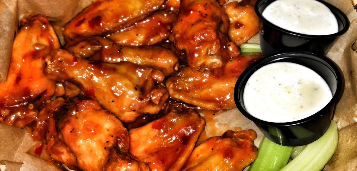Wings with Dempsey's BBQ Sauce