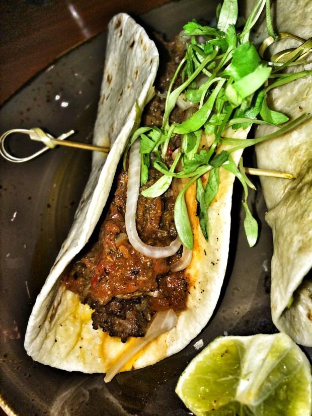 Slow-Cooked Beef Barbacoa Taco