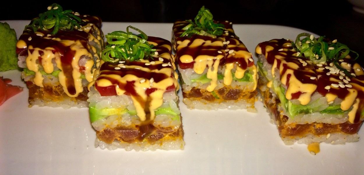 Spicy Tuna Roll, Battera Style