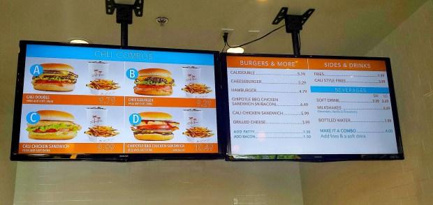 Caliburger Menu