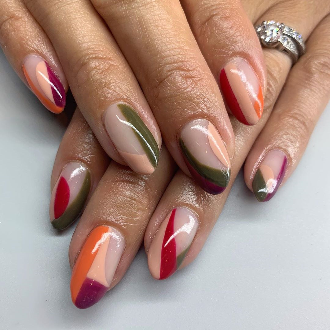 how to shape almond nails step by step