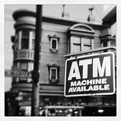 ATM machine sign