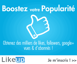 Likeup.fr - Plus de Likes, Followers, Google+, Vues et d'Abonn�s