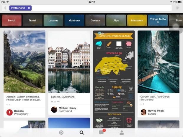 Planejar uma viagem com Pinterest