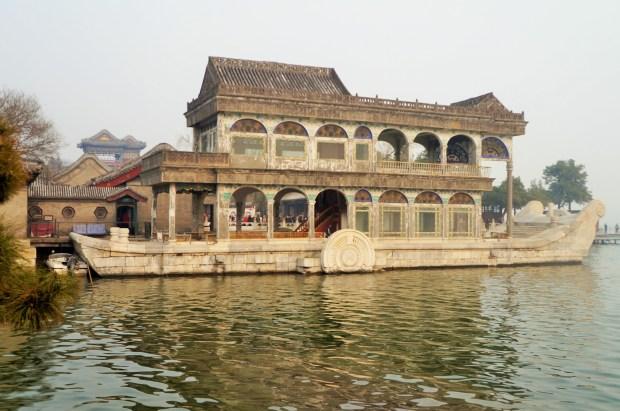 Barco de Mármore no Palácio de Verão