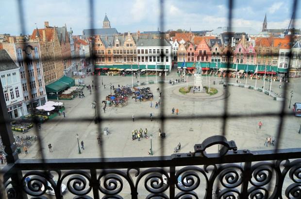 coisas imperdíveis para fazer em Bruges - vista da torre