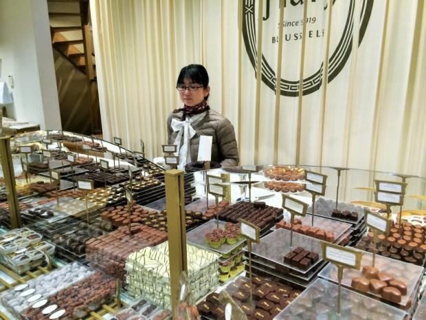 Roteiro de um dia em Bruxelas - loja de chocolate