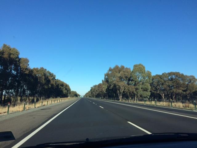 viajar de Sydney a Melbourne - lindo caminho