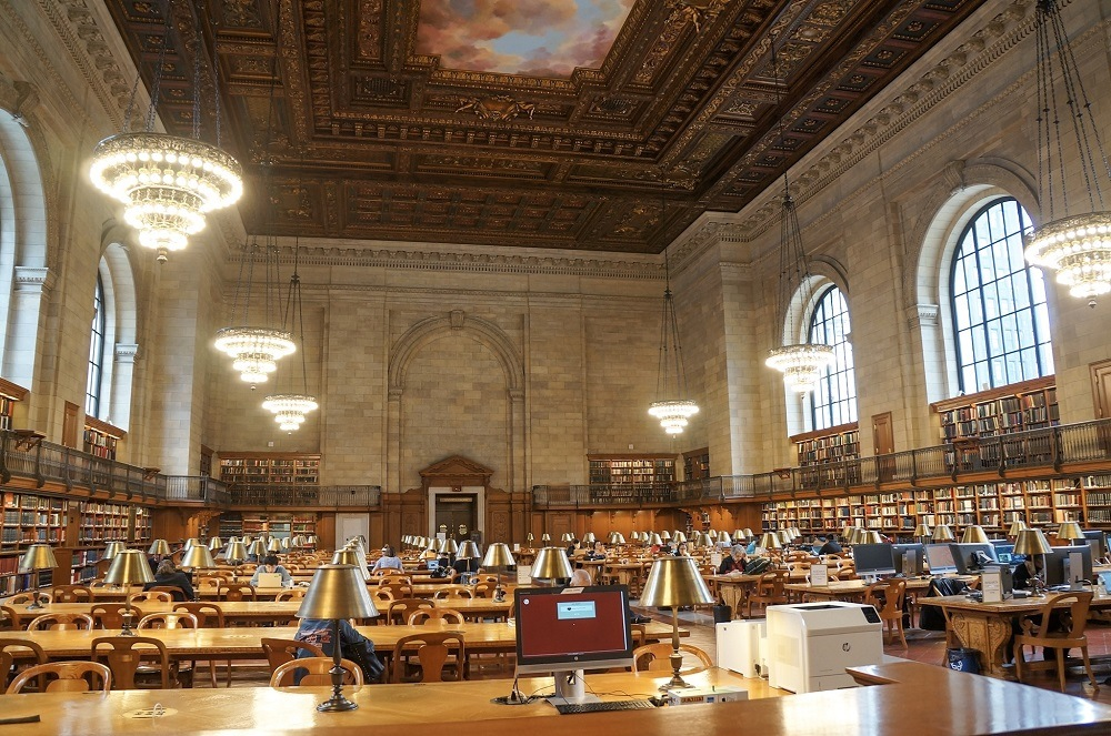 Salão Principal de leitura Rose na Biblioteca Pública de Nova York