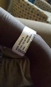 My hospital bracelet!