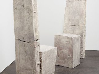 Dennis Gallagher: Chairs Facing Each Other, 2006, Ceramic, 55 inches high, dim. variable