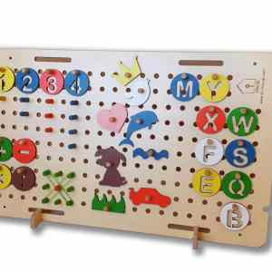 kids activity board busy board Montessori toy kids indoor activities educational toy learning toy fine motor skills wooden toy eco toy pegboard geoboard
